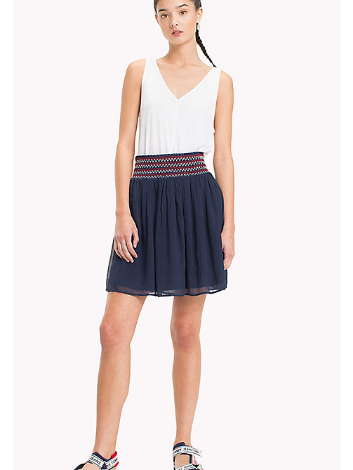 TOMMY JEANS Micro Stripe Tank Top - BRIGHT WHITE - TOMMY JEANS Tops - main image
