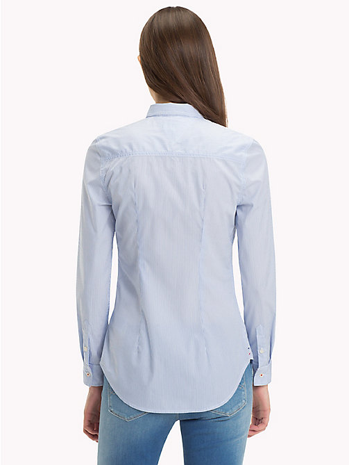 TOMMY JEANS All Over Micro-Stripe Shirt - SERENITY / BRIGHT WHITE - TOMMY JEANS Women - detail image 1