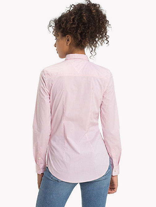 TOMMY JEANS All Over Micro-Stripe Shirt - PINK ICING / BRIGHT WHITE - TOMMY JEANS Clothing - detail image 1