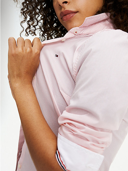 TOMMY JEANS All Over Micro-Stripe Shirt - PINK ICING / BRIGHT WHITE - TOMMY JEANS Clothing - main image