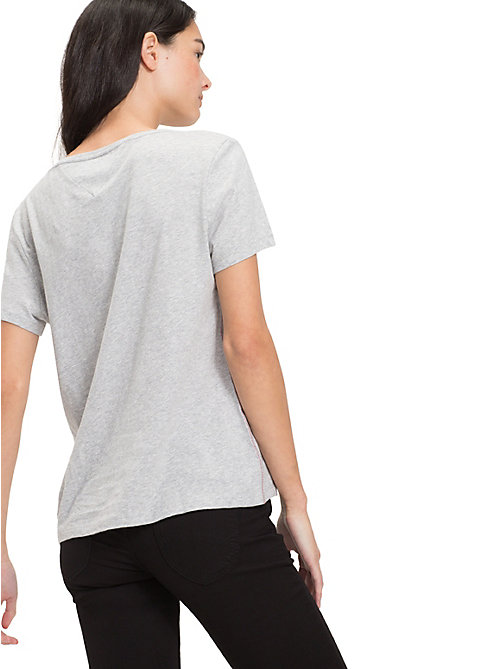 TOMMY JEANS Soft Organic Cotton Jersey T-Shirt - LT GREY HTR - TOMMY JEANS Sustainable Evolution - detail image 1