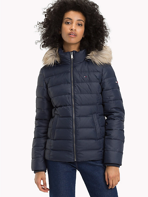 TOMMY JEANS Sustainable Padded Down Jacket - BLACK IRIS - TOMMY JEANS Sustainable Evolution - main image