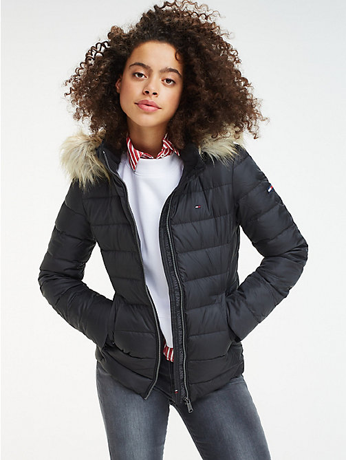 TOMMY JEANS Sustainable Padded Down Jacket - TOMMY BLACK - TOMMY JEANS Sustainable Evolution - main image