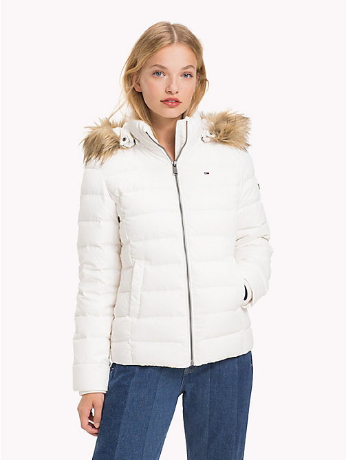 TOMMY JEANS Sustainable Padded Down Jacket - SNOW WHITE - TOMMY JEANS Sustainable Evolution - main image