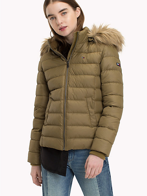 TOMMY JEANS Sustainable Padded Down Jacket - MILITARY OLIVE - TOMMY JEANS Sustainable Evolution - main image