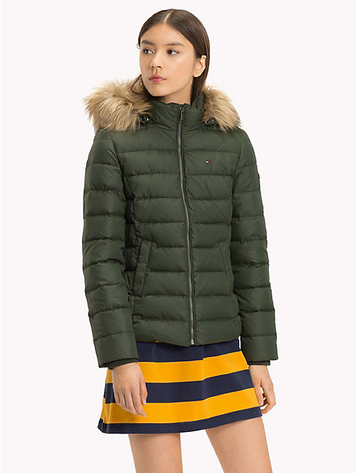 TOMMY JEANS Sustainable Padded Down Jacket - KOMBU GREEN - TOMMY JEANS Sustainable Evolution - main image