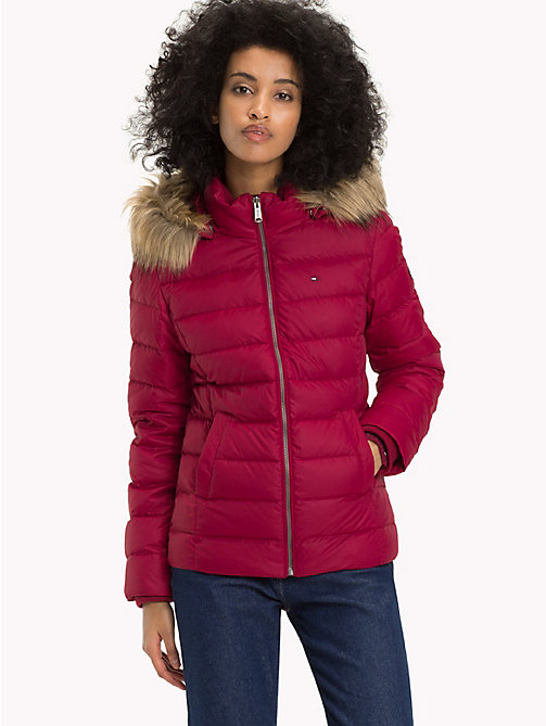 TOMMY JEANS Sustainable Padded Down Jacket - RUMBA RED - TOMMY JEANS Sustainable Evolution - main image