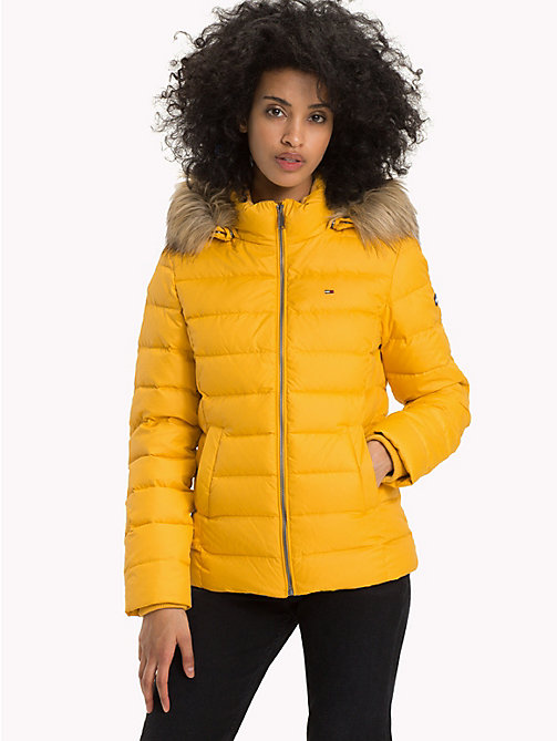 TOMMY JEANS Sustainable Padded Down Jacket - MANGO MOJITO - TOMMY JEANS Sustainable Evolution - main image