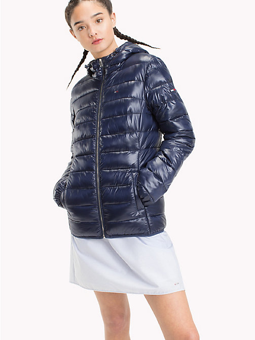 TOMMY JEANS Quilted Hooded Jacket - BLACK IRIS - TOMMY JEANS Coats & Jackets - main image