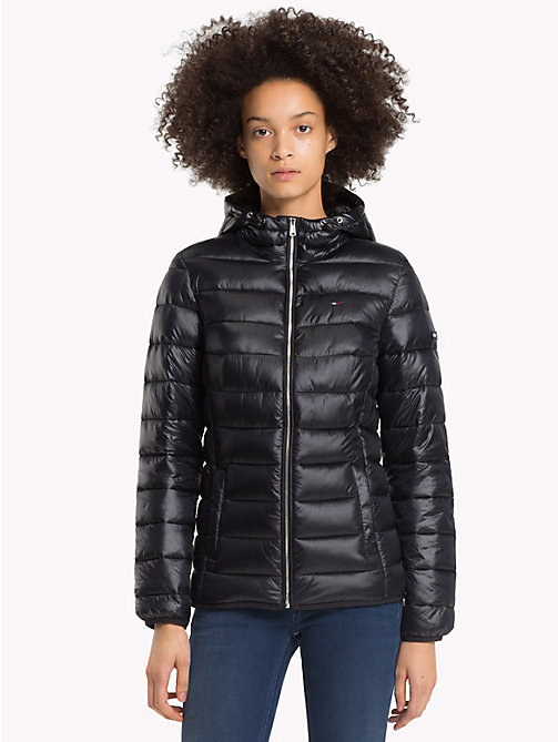 TOMMY JEANS Quilted Hooded Jacket - TOMMY BLACK -  Coats & Jackets - main image