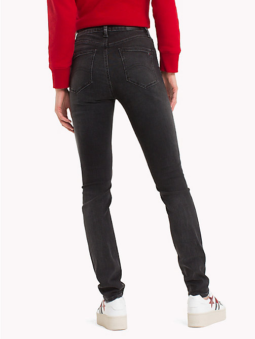 TOMMY JEANS High Rise Stretch Jeans - PERKINS BLACK STRETCH - TOMMY JEANS Jeans - detail image 1