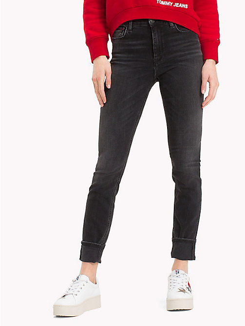 TOMMY JEANS High Rise Stretch Jeans - PERKINS BLACK STRETCH - TOMMY JEANS Jeans - main image