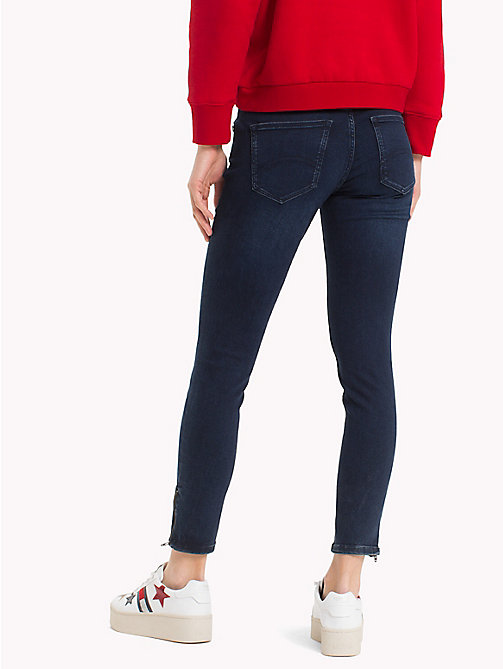 TOMMY JEANS Cropped Ankle Zip Jeans - DUMBAR DARK BLUE STRETCH - TOMMY JEANS Jeans - detail image 1