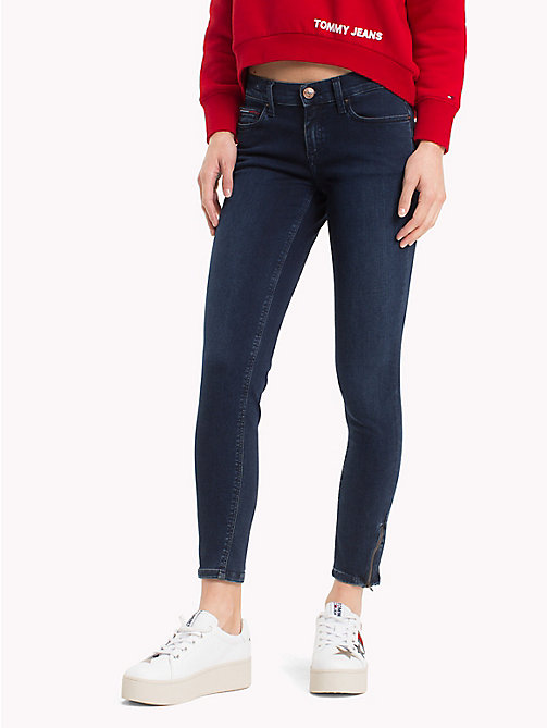 TOMMY JEANS Cropped Ankle Zip Jeans - DUMBAR DARK BLUE STRETCH - TOMMY JEANS Jeans - main image