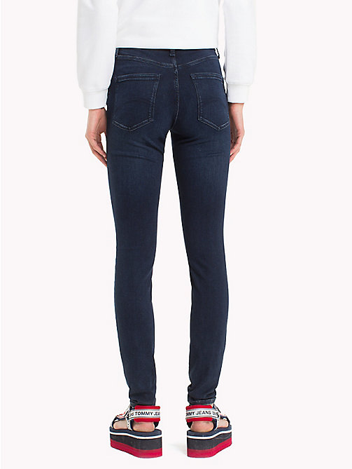 TOMMY JEANS High Rise Skinny Fit Jeans - DUMBAR DARK BLUE STRETCH - TOMMY JEANS Jeans - detail image 1