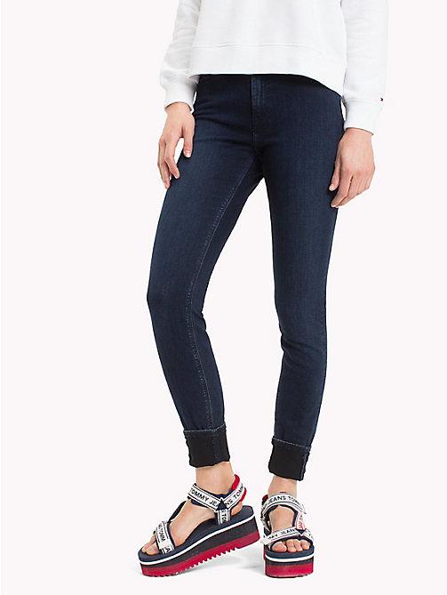 TOMMY JEANS High Rise Skinny Fit Jeans - DUMBAR DARK BLUE STRETCH - TOMMY JEANS Skinny Jeans - main image
