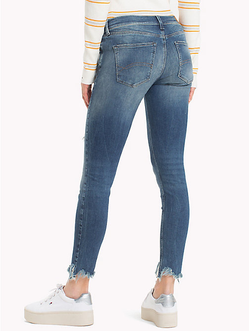 TOMMY JEANS Frayed Hem Cropped Skinny Fit Jeans - TENNY MID BLUE STRETCH - TOMMY JEANS Jeans - detail image 1