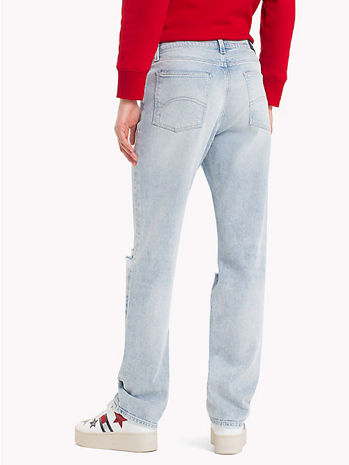 TOMMY JEANS Distressed Slim Fit Jeans - FLANDERS LIGHT BLUE STR - TOMMY JEANS Festival Season - detail image 1