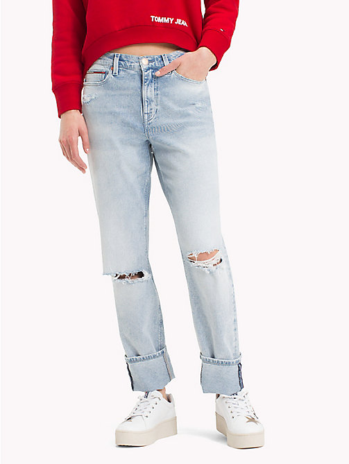 TOMMY JEANS Distressed Slim Fit Jeans - FLANDERS LIGHT BLUE STR - TOMMY JEANS Festival Season - main image
