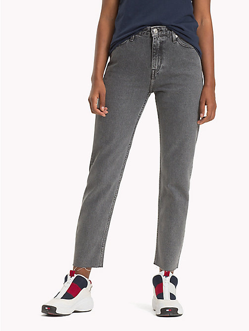 TOMMY JEANS High Rise Denim Jeans - LIBERTY GREY RIGID - TOMMY JEANS Jeans - main image