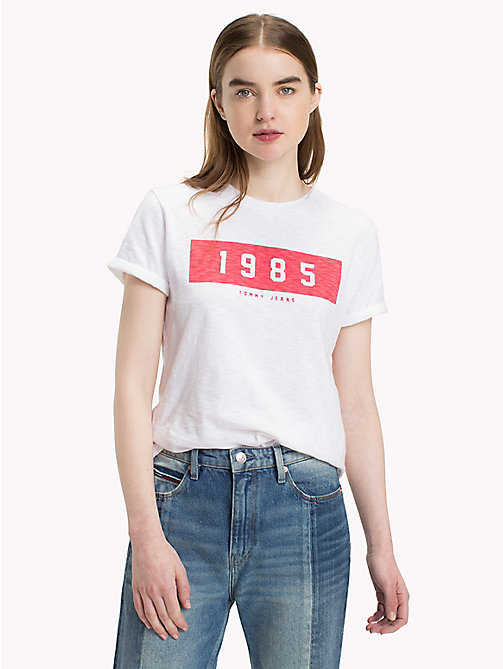TOMMY JEANS T-shirt Tommy Jeans 1985 - BRIGHT WHITE - TOMMY JEANS Tops - image principale
