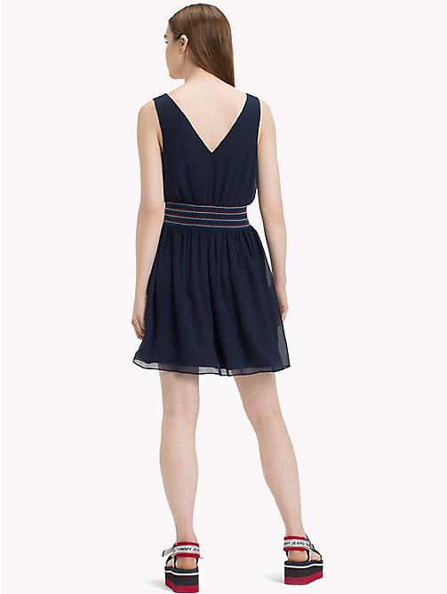 TOMMY JEANS Easy Fit Smock Dress - BLACK IRIS - TOMMY JEANS Vacation Style - detail image 1