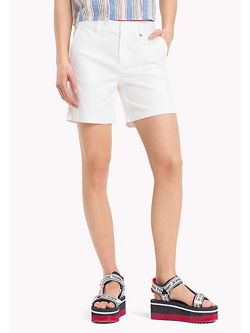 TOMMY JEANS Regular Fit Chino Shorts - BRIGHT WHITE - TOMMY JEANS Trousers & Skirts - main image