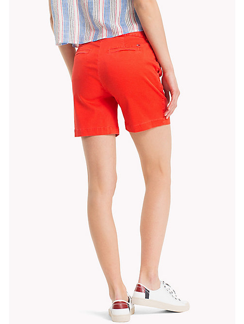 TOMMY JEANS Regular Fit Chino Shorts - POPPY RED - TOMMY JEANS Festival Season - detail image 1