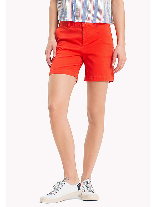 TOMMY JEANS Regular Fit Chino Shorts - POPPY RED - TOMMY JEANS Vacation Style - main image