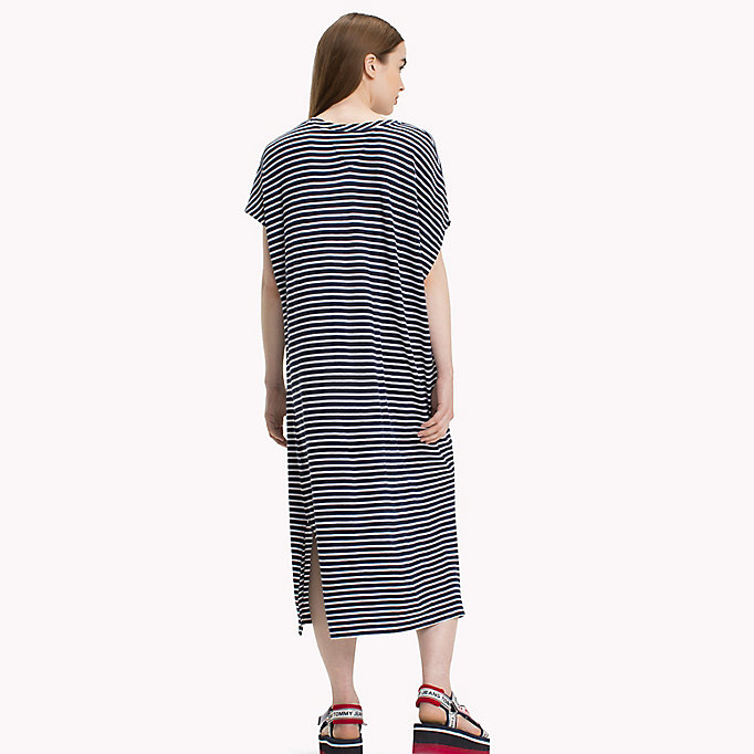 TOMMY JEANS Stripe T-Shirt Dress - POPPY RED / BRIGHT WHITE - TOMMY JEANS Women - detail image 1