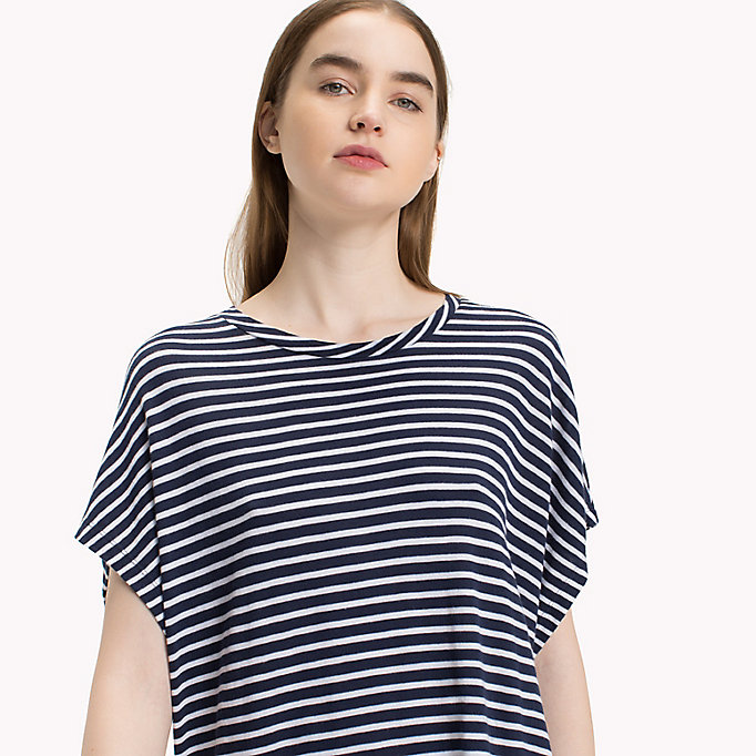 TOMMY JEANS Stripe T-Shirt Dress - POPPY RED / BRIGHT WHITE - TOMMY JEANS Women - detail image 2