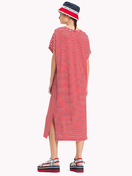 TOMMY JEANS Stripe T-Shirt Dress - POPPY RED / BRIGHT WHITE - TOMMY JEANS Festival Season - detail image 1