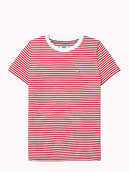 TOMMY JEANS Classic Stripe T-Shirt - SAMBA / BRIGHT WHITE - TOMMY JEANS Test 7 - Women - detail image 1