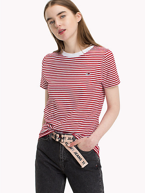 TOMMY JEANS Classic Stripe T-Shirt - SAMBA / BRIGHT WHITE - TOMMY JEANS Test 7 - Women - main image