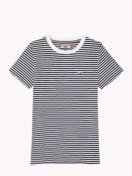 TOMMY JEANS Classic Stripe T-Shirt - BLACK IRIS / BRIGHT WHITE - TOMMY JEANS Test 7 - Women - detail image 1