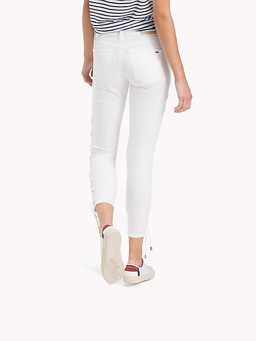 TOMMY JEANS Corset Medium Rise Jeans - LACE WHITE STRETCH - TOMMY JEANS Jeans - detail image 1