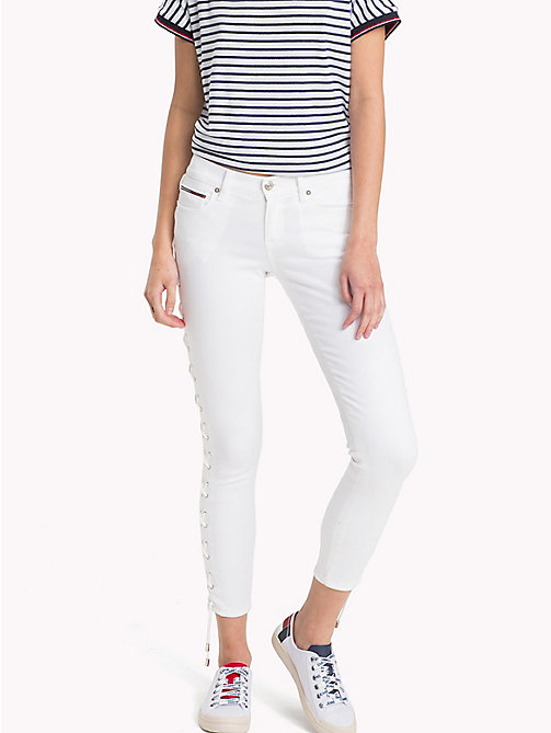TOMMY JEANS Corset Medium Rise Jeans - LACE WHITE STRETCH - TOMMY JEANS Vacation Style - main image