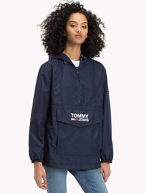 TOMMY JEANS Recycled Polyester Anorak - BLACK IRIS - TOMMY JEANS Clothing - main image