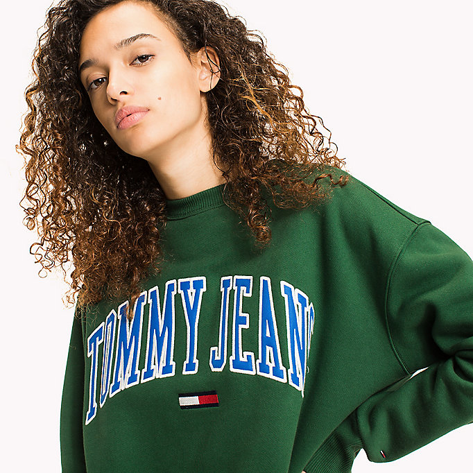TOMMY JEANS Fleece Logo Sweatshirt - LILAC CHIFFON - TOMMY JEANS Clothing - detail image 2