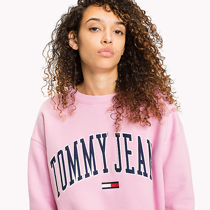 TOMMY JEANS Fleece Logo Sweatshirt - OLD GOLD - TOMMY JEANS Clothing - detail image 2