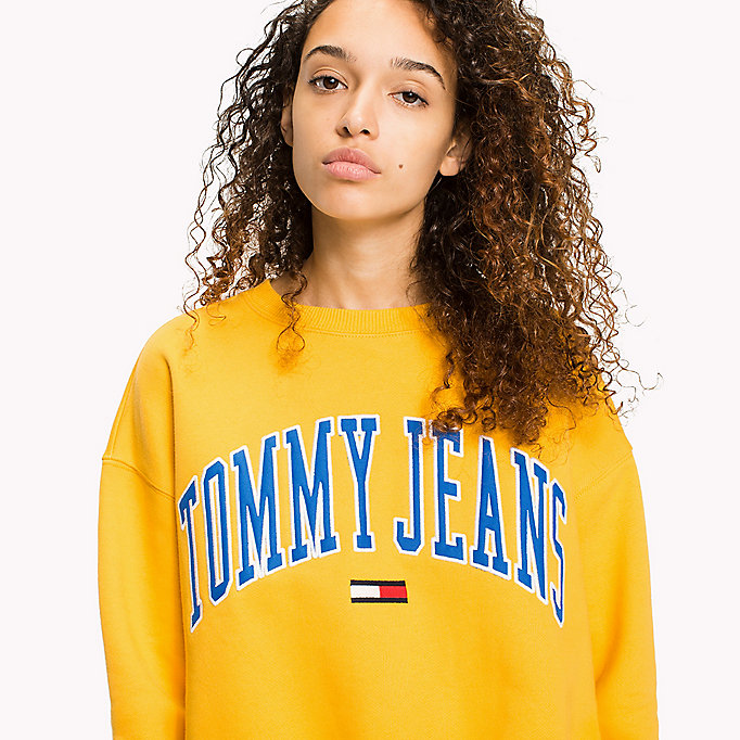 TOMMY JEANS Fleece Logo Sweatshirt - NAVY BLAZER - TOMMY JEANS Clothing - detail image 2
