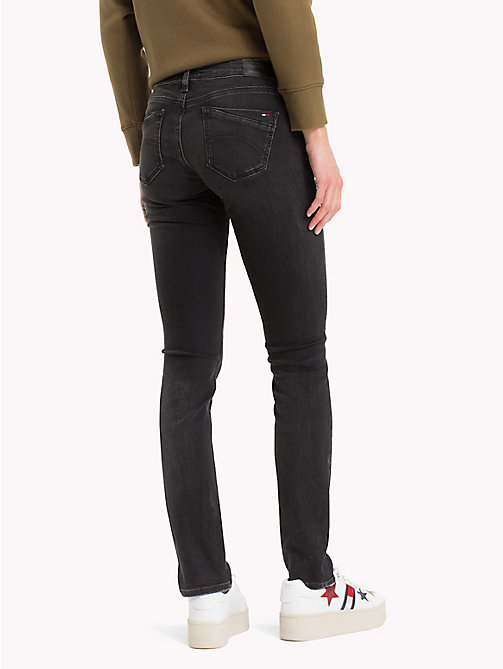 TOMMY JEANS Medium Rise Jeans - PERKINS BLACK STRETCH - TOMMY JEANS Slim Fit Jeans - detail image 1