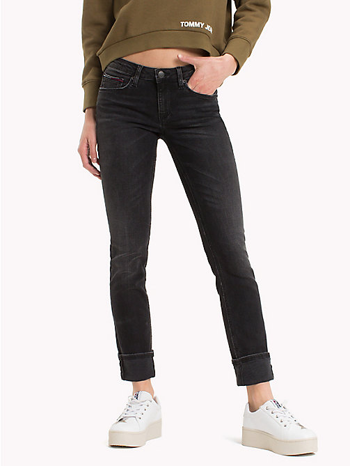 TOMMY JEANS Medium Rise Jeans - PERKINS BLACK STRETCH - TOMMY JEANS Slim Fit Jeans - main image