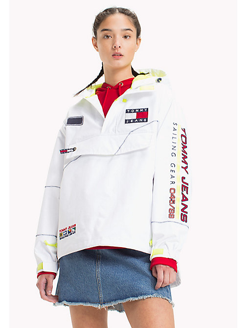 TOMMY JEANS 90s Logo Sailing Jacket - BRIGHT WHITE - TOMMY JEANS Capsule - main image
