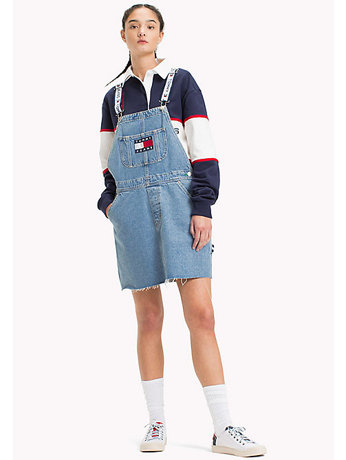 TOMMY JEANS 90s Dungaree Dress - LIGHT DENIM BLUE - TOMMY JEANS TOMMY JEANS Capsule - main image
