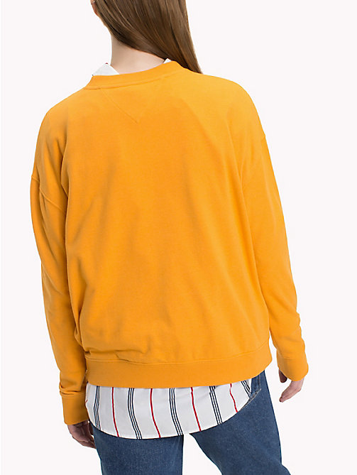 TOMMY JEANS Have A Nice Day Sweatshirt - BUTTERSCOTCH - TOMMY JEANS Sweatshirts & Hoodies - detail image 1