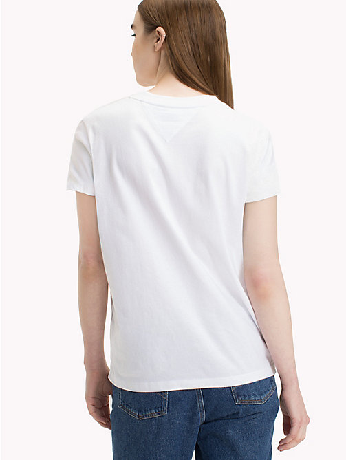 TOMMY JEANS Tommy Jeans Flag T-Shirt - BRIGHT WHITE - TOMMY JEANS Tops - main image 1