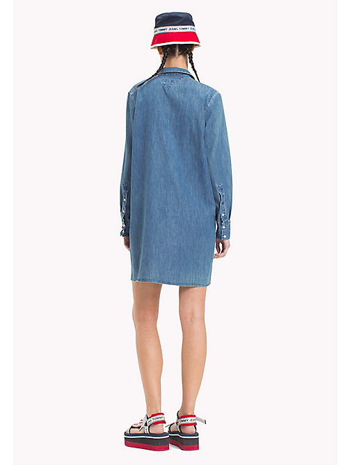 TOMMY JEANS Denim Shirt Dress - MID INDIGO - TOMMY JEANS Shirt Dresses - detail image 1