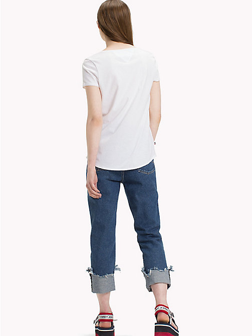 TOMMY JEANS Organic Cotton V-Neck T-Shirt - BRIGHT WHITE - TOMMY JEANS Sustainable Evolution - detail image 1