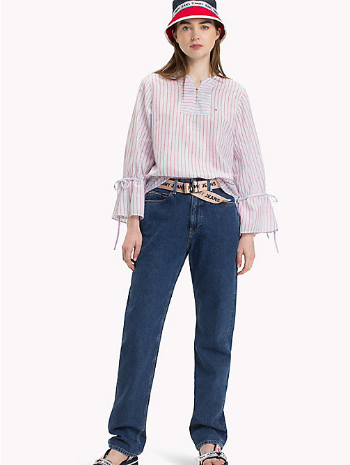 TOMMY JEANS Stripe Blouse - CLASSIC WHITE/MULTI - TOMMY JEANS Tops - main image
